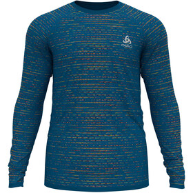 Odlo Blackcomb Ceramicool T-Shirt L/S Crew Neck Men, mykonos blue space dye